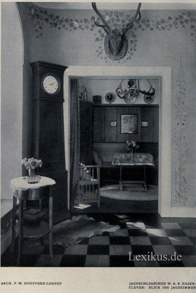 jagdschl sschen w a hasenclever remscheid ehringhausen lexikus. Black Bedroom Furniture Sets. Home Design Ideas