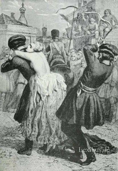 Frau bestrafung Prügelbock