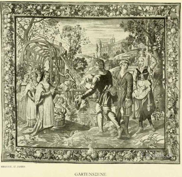 Christliche Szene Antiquitäten & Kunst Gobelin