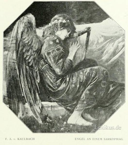 011 kaulbach engel an einem sarkophag