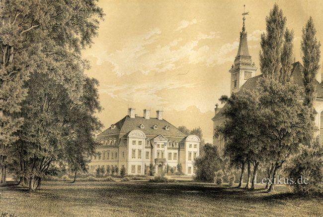 Ivenacker Schloss mit Kirche um 1880