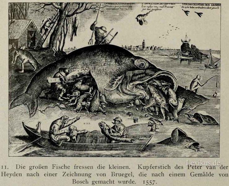 Deutsche sprichw rterkunde lexikus for Fressen kois kleine fische
