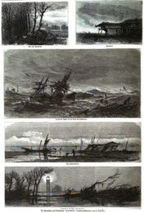 Klima, Die Sturmflut am Ostseestrand, 13. November 1872, Travemünde