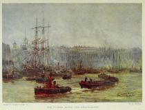 London, The Custom House and Billingsgate