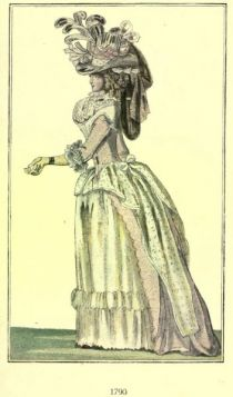 Damenmode Paris 1790