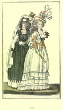 Damenmode Paris 1791