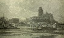 Meissen — from the right bank of the Elbe. Painted by Karl O Lynch von Town.