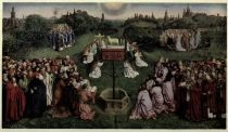 PLATE I.— THE ADORATION OF THE LAMB (By Hubert van Eyck)
