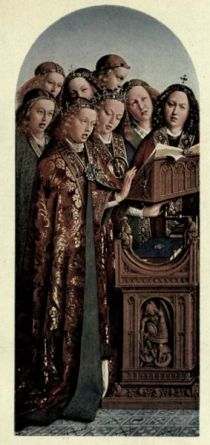 Plate II. Choir of Angels, c. 1426 (By Hubert van Eyck.— Royal Gallery, Berlin)