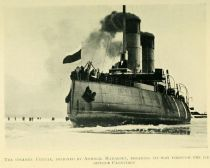 03. The Steamer Yermak breaking its way through the Ice
