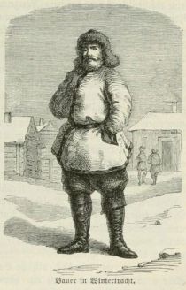 Russicher Bauer in Wintertracht